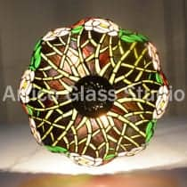 tiffany stained glass floral pendant light