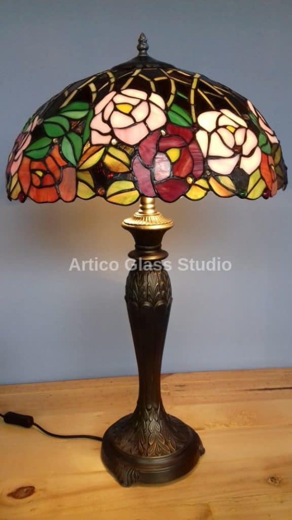 tiffany stained glass table lamp flowers malaysia