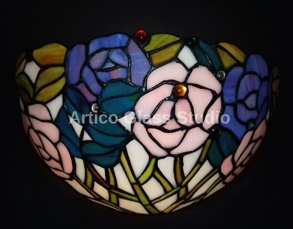 tiffany stained glass wall light
