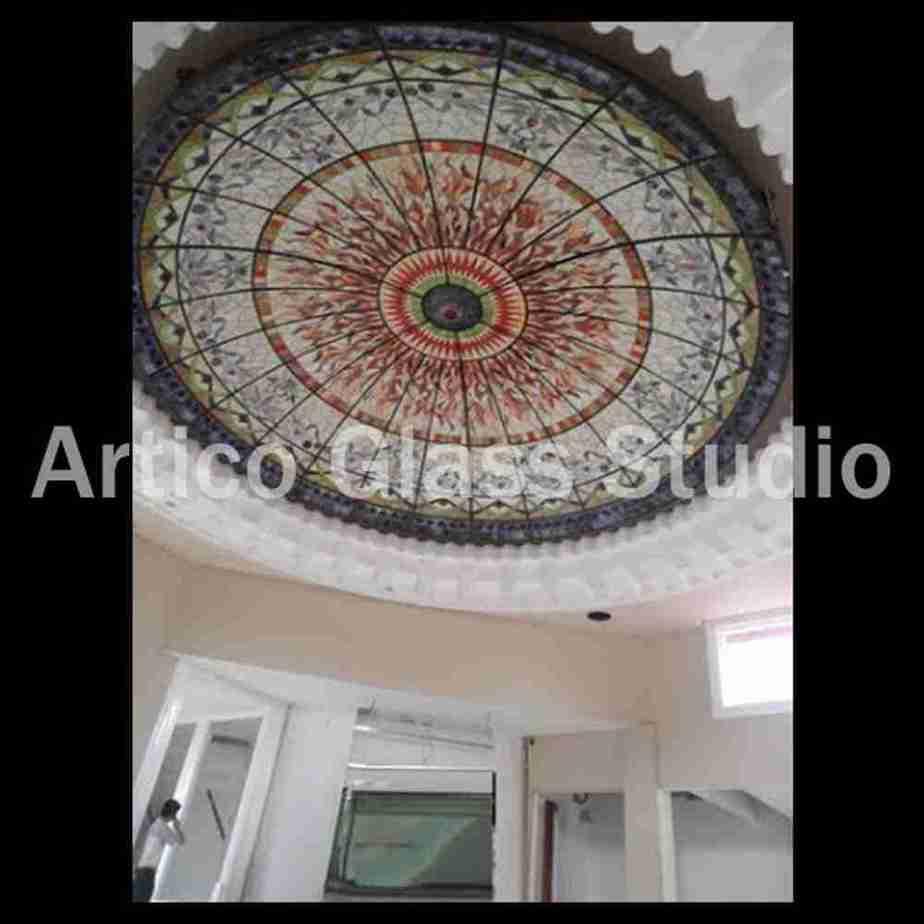 stained glass interior dome 20' artico glass studio malaysia