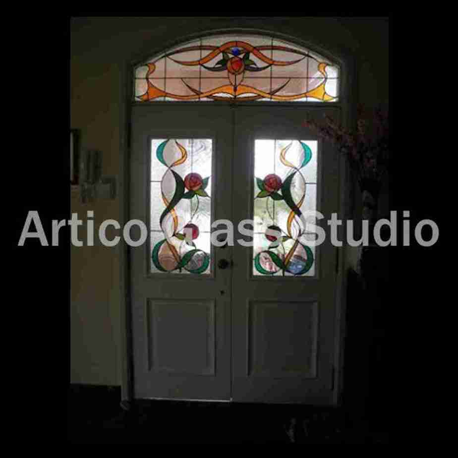 stained glass door transom malaysia flower country