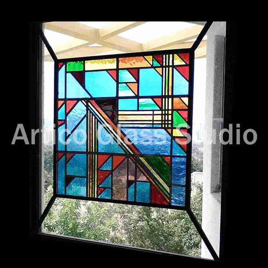 stained glass window panel malaysia artico glass studio