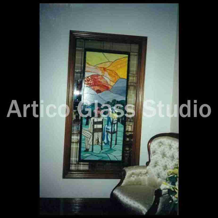 stained glass art partition malaysia