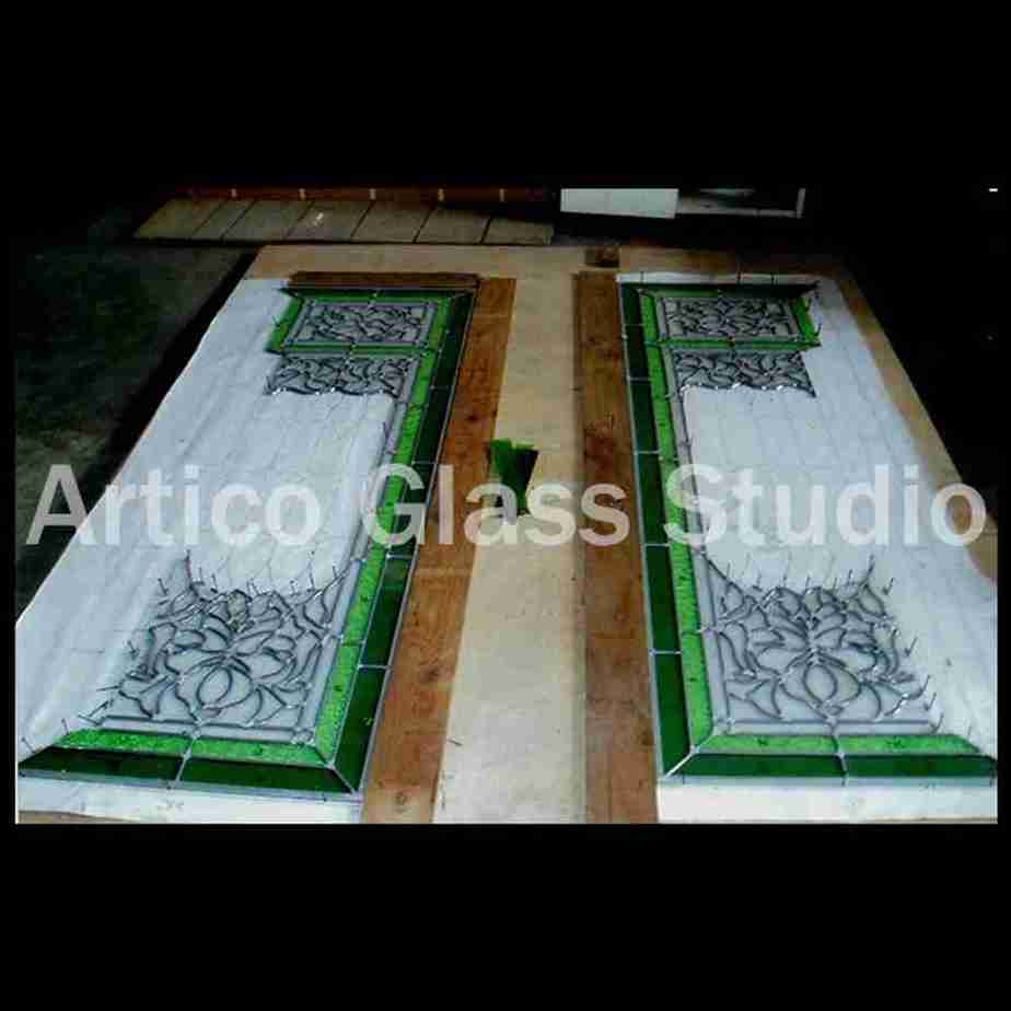 stained glass door construction malaysia artic glass studio