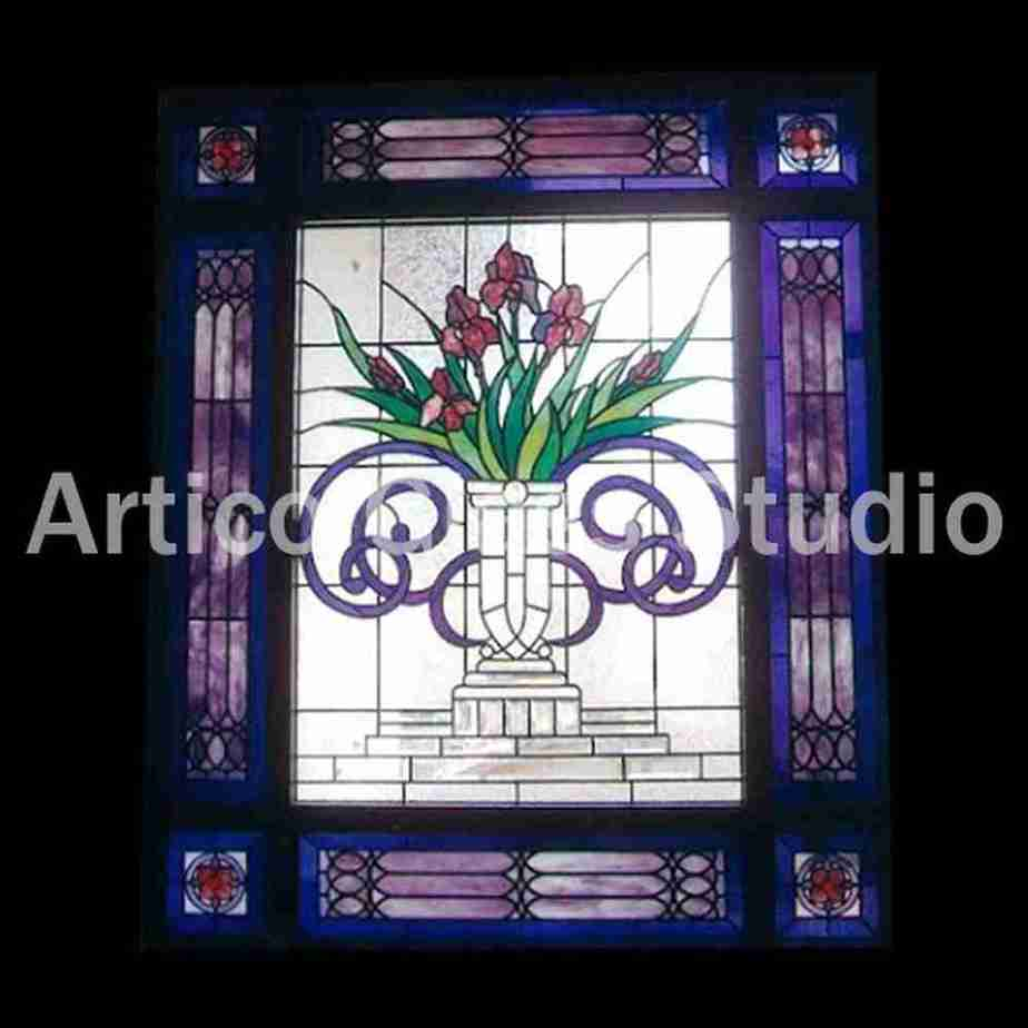 stained glass art malaysia bathroom window artico glass studio