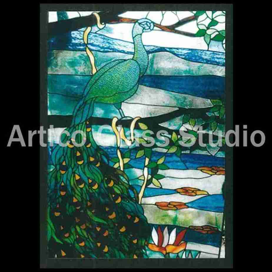 stained glass art texture glass peacock window malaysia