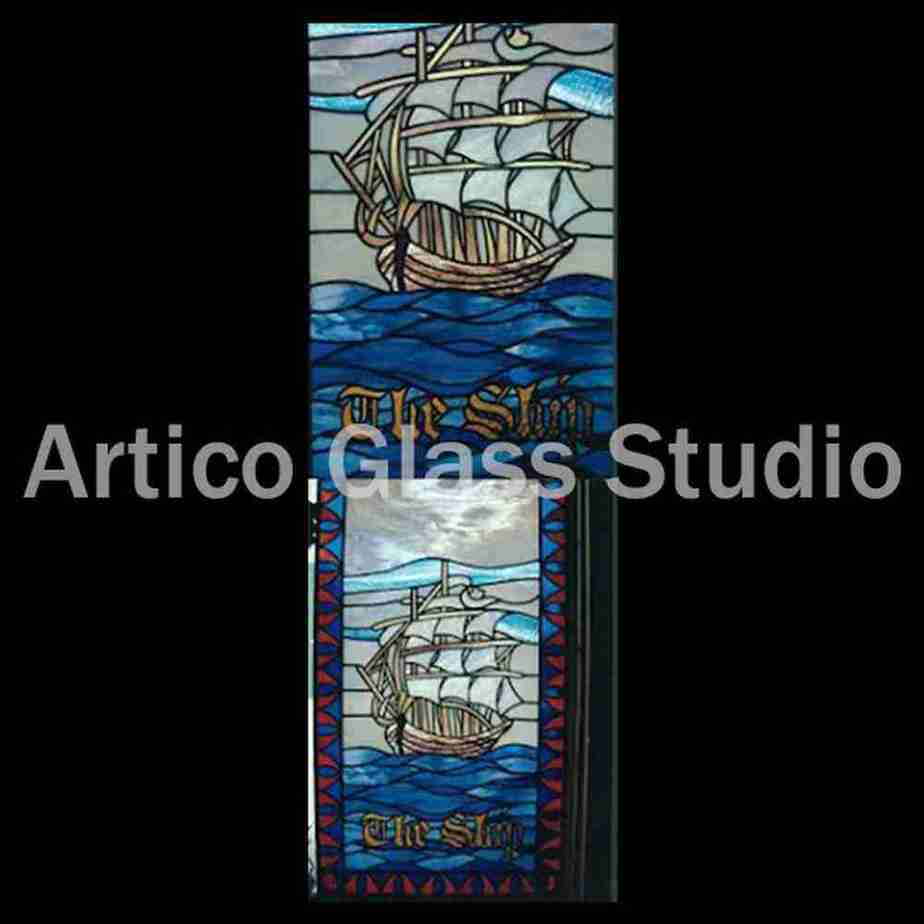 *stained glass art malaysia restaurant window