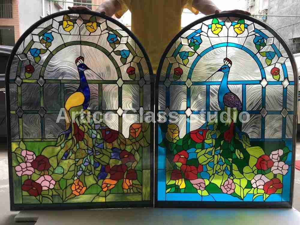 stained glass peacock windows malaysia artico glass studio
