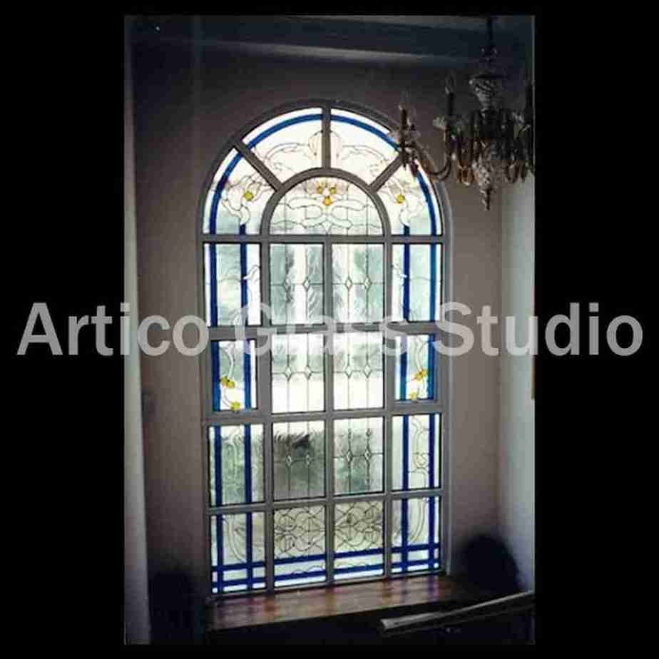 stained glass beveled textured glass malaysia staircase window artico glass studio