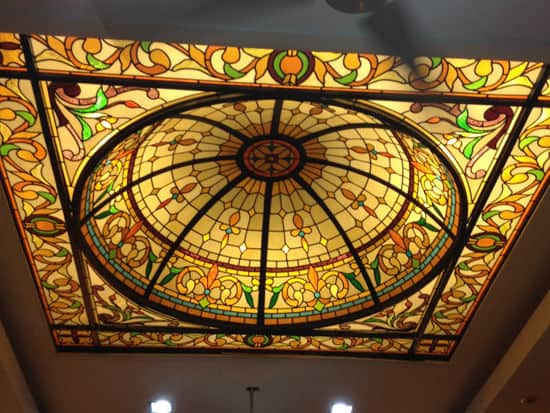 stained glass dome skylight victorian design