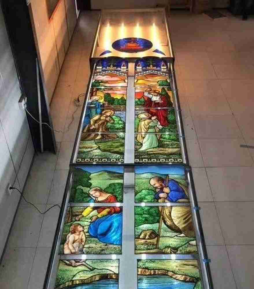stained glass Christian panel