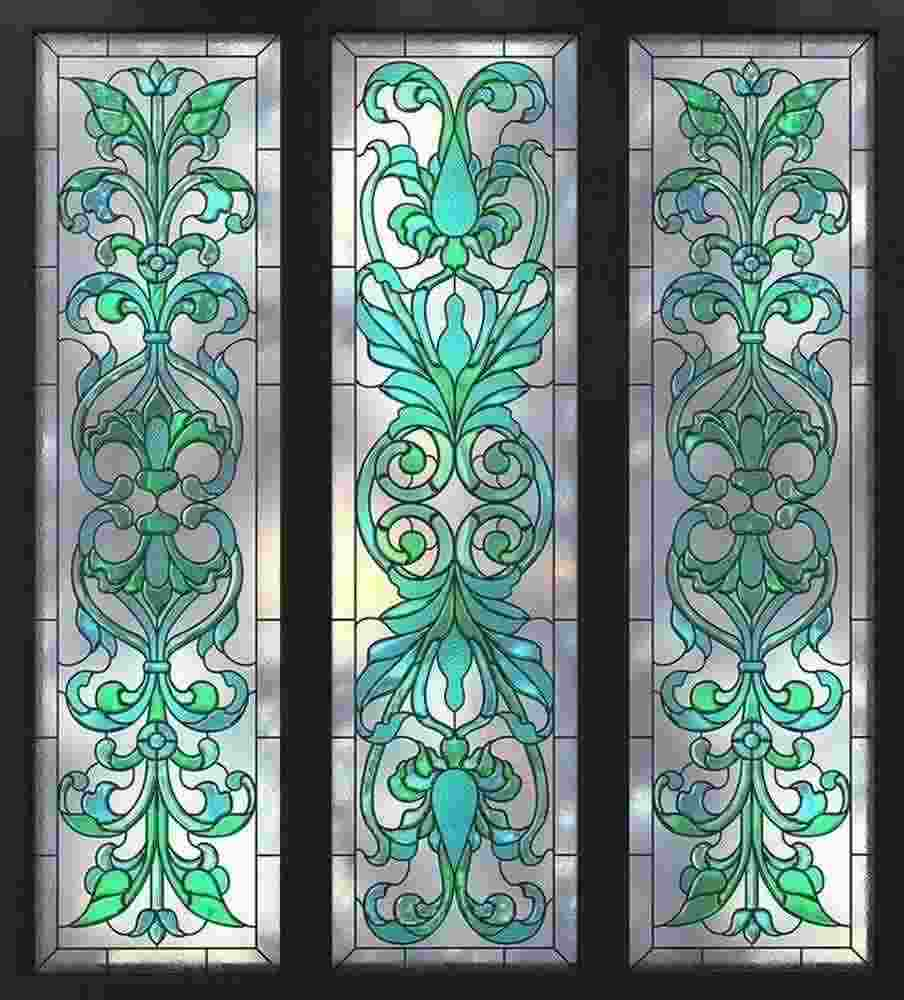 stained glass window victorian design